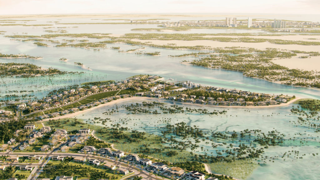 The rendering process of Jubail Port